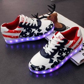 Chaussures Led Femme Homme Couple Etoile Usb Rechargeable 7 Couleurs Chaussures Lumineuses Clignantes Baskets Led Unisexe