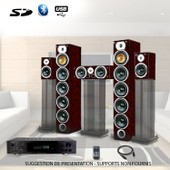 Ensemble Home-cin�ma Hifi 1240W + ampli 360W
