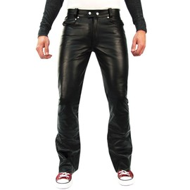Bockle� 1970 Bootcut - Pantalon En Cuir De Vache Jeans - Hom