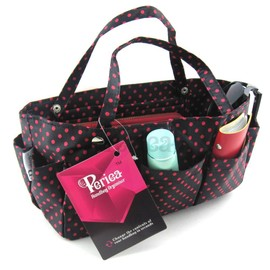 Periea - Organiseur De Sac � Main - Tilly (Noir � Pois Rouges)