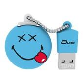 Cle USB 8Go EMTEC Smiley World Bleu
