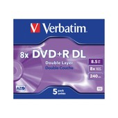 Verbatim - 5 x DVD+R DL