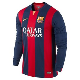 Maillot Football Fc Barcelone Domicile Manches Longues