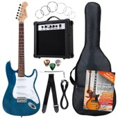 Pack Guitar Electrique Banger's Pack Set De Rocktile, 8 Pi�ces Transparent Blue