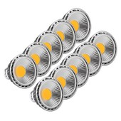 10x Set Showlite Led Spot Gu10w05k30n 5 Watt, 330 Lumen, Socle Gu10, 3000 Kelvin