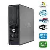 PC DELL Optiplex 380 SFF Pentium D E6300 2.8Ghz 4Go DDR3 250Go WIFI Win 7 Pro