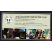 Canada Ticket D'entr�e Au Centre D'interpr�tation Du Patrimoine