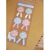 Novago 3 Planches Stickers Autocollants Motifs Rubans Pour Fermer Et D�corer Les Paquets Et Pochettes Cadeaux (3 Motifs Diff�rents Al�atoires)