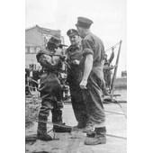 Ww2 - Scaphandrier De La Royal Navy � Cherbourg En Juillet 1944