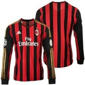 Maillot Football Milan Ac Domicile Manches Longues Neuf