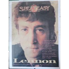 couverture revue speakeasy john lennon sous verre - 1987