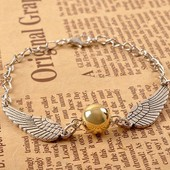 Bracelet Harry Potter And The Deathly Hallows Golden Snitch / Collection S