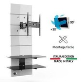 GHOST DESIGN 3000R blanc Meuble TV support orientable 32 a 63