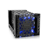 Bo�tier externe pour ICY DOCK Black Vortex 4 HDD 3.5 avec ventilateurs et LED - SATA / USB 3.0 / eSATA