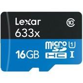Lexar microSDHC 633x UHS-I 16GB with USB 3.0 Reader