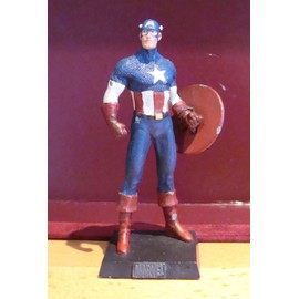 [ Eaglemoss ] Marvel Super Heroes : Captain America ( Figurine En Plomb Peinte � La Main - 2006 )