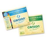 Canson 400061913 Lot De 2 Pochettes Papier � Dessin 12 Feuilles 24 X 32 Cm 1 C � Grain 180g Blanc Et 1 Mi-Teintes 160g Couleurs Vives