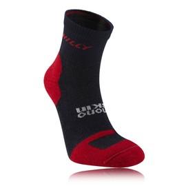 Hilly Off Road Hommes Femmes Rouge Noir Running Courte Chaussettes Socquettes