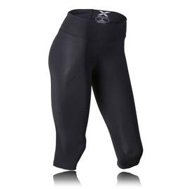 2xu Femmes Noir Mid Rise Collants Capri De Course Compression Gym Sport Leggings