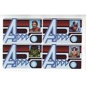 Heroclix -Id Cards- Hulk +Thor+Iron Man +Captain Am�rica