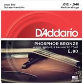 Daddario Ej80 Jeu De Cordes Pour Mandoline Octave