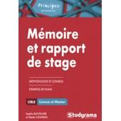 M�moire Et Rapport De Stage - M�thodologie Approfondie de Sophie Boutillier