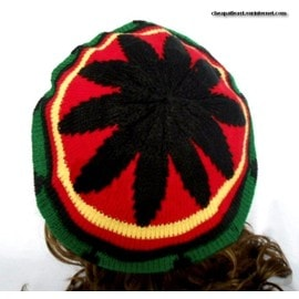 Bonnet B�ret Galette Rasta Jamaique Reggae Marley Mixte Homme Femme