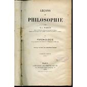 Lecons De Philosophie - I : Psychologie. Ouvrage Couronne Par L'academie Francaise. de RABIER ELIE