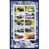 France 2000, Tr�s Beau Bloc Feuillet Bf 30 - Collection Jeunesse, Voitures Anciennes, Philexjeunes � Annecy, Timbres 3317 � 3326, Neuf** Luxe