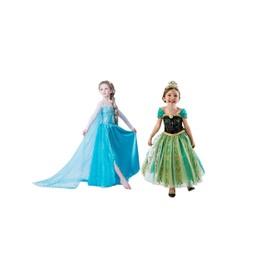 Offre Duo: Robe Elsa + Robe Anna Pour Amoureux De La Reine Des Neiges D�guisement Parfaite Irr�sistible Pour F�te Soir�e Anniversaires