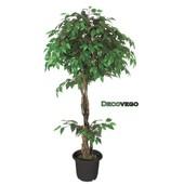 Ficus Benjamina Plante Arbre Artificielle Artificiel Plastique 160cm Domaine Interne Decovego