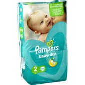 Pampers Baby Dry 58 Couches Taille 2