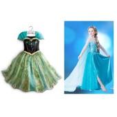 Lot 2 Robe Elsa + Robe Anna Pour Amoureux De La Reine Des Neiges D�guisement Parfaite Irr�sistible Pour F�te Soir�e Anniversaires
