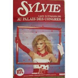 SYLVIE VARTAN RARE AFFICHE PALAIS DES CONGRES 1983