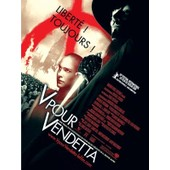 V Pour Vendetta - Affiche Originale De Cin�ma - Format 120x160 Cm - Un Film De James Mcteigue Avec Natalie Portman, Hugo Weaving, Stephen Rea, Stephen Fry, John Hurt, For - Ann�e 2005