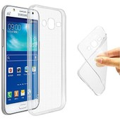 Galaxy J5 Coque Etui Housse Silicone Gel + Transparent