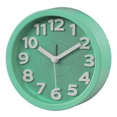 Hama 00136211 R�veil Au Design R�tro, Silencieux, Sans Tic-Tac, Vert Clair