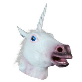 Masque Licorne Int�gral Original Blanc F�te D�guisement Cosplay Halloween