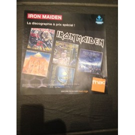 IRON MAIDEN PLV FORMAT 33 TOURS 2015 FNAC COLLECTOR