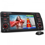 Bmw-E46 Autoradio 2din Gps Navigation Bluetooth / 2din + Gps + Europa Maps + Touchscreen + Dual Mode + Widescreen + 7