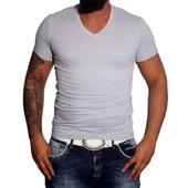 T Shirt Col V Homme Cintr� Multicolore Fashion Ck02 Polo Chemise