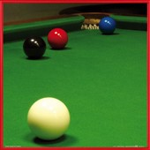 Poster Reproduction Encadr�: Billard - Snooker, Stiuation Free Ball (40x40 Cm), Cadre Plastique, Rouge