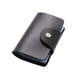 Business Credit Card Wallet Holder Bags Pu Leather Buckle Bank Card Bag 24 Id Card Holder Bank Multi-Functional Cover Bb071-Sz
