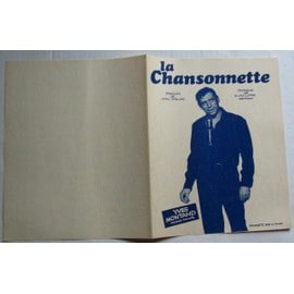 YVES MONTAND PARTITION LA CHANSONNETTE