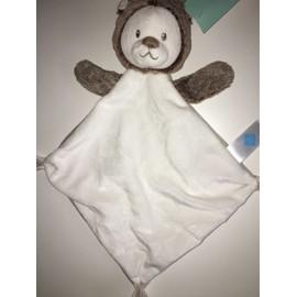 Marron Herisson Losange Blanc Tex Doudou Baby Plat 6gyvmIfYb7