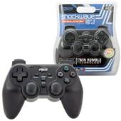 Kmd Manette Pad Joystick Wireless 2,4 Ghz Sans Fil Shock Wave Pour Console Sony Playstation 2 Ps2, Noir