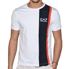 Ea7 - Tee Shirt Manches Courtes - Homme - Train Colorblock - 273027 - Blanc