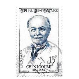 Timbre oblitéré de 1958,n°1144(1).Charles Nicolle.