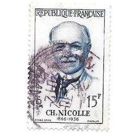 Timbre oblitéré de 1958,n°1144(2).Charles Nicolle.