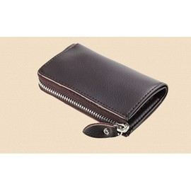 Pu Leather Car Key Wallet Housekeeper Holder Porta Chaves For Keys Pouch Bag Coin Money Bag Purse Credit Card Holder Color, Brown Bb084-Sz+